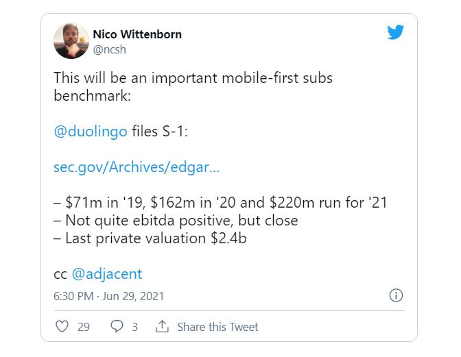 Duolingo files for IPO